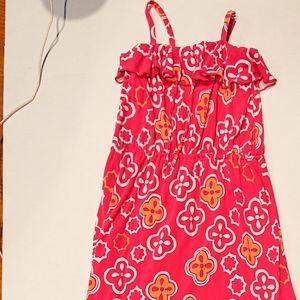 Target Pink Quatrefoil Ruffle Patterned Dress